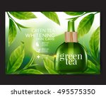 green tea serum  skin care... | Shutterstock .eps vector #495575350
