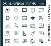set of 25 universal icons on... | Shutterstock .eps vector #495579286