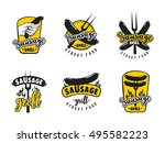 collection of logo for street... | Shutterstock .eps vector #495582223