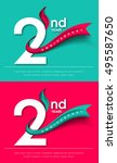 anniversary emblems 2... | Shutterstock .eps vector #495587650