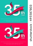 anniversary emblems 35... | Shutterstock .eps vector #495587803