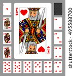 playing cards of hearts suit... | Shutterstock .eps vector #495588700