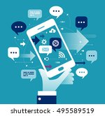 internet business. concept... | Shutterstock .eps vector #495589519