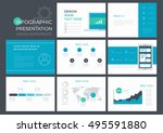 set nine presentation template... | Shutterstock .eps vector #495591880