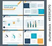 power point template ... | Shutterstock .eps vector #495591970