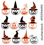 vector collection of spooky... | Shutterstock .eps vector #495594490