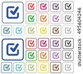 set of checkmark flat rounded... | Shutterstock .eps vector #495604246