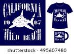 pattern design concept for... | Shutterstock .eps vector #495607480