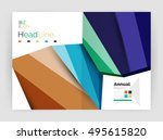 geometric business annual... | Shutterstock .eps vector #495615820