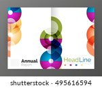 circle annual report templates  ... | Shutterstock .eps vector #495616594