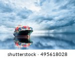 logistics and transportation of ... | Shutterstock . vector #495618028