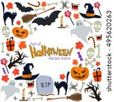 Background Of Halloween Icons...