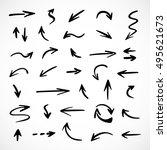 hand drawn arrows  vector set   Shutterstock .eps vector #495621673