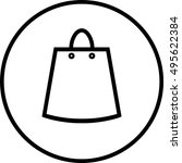 shopping bag icon | Shutterstock .eps vector #495622384