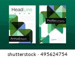 business annual report cover... | Shutterstock .eps vector #495624754