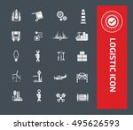logistic icon vector | Shutterstock .eps vector #495626593