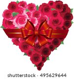valentine card with heart of... | Shutterstock .eps vector #495629644