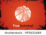 basketball logo. basketball... | Shutterstock . vector #495631684