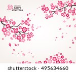 2017 chinese new year greeting... | Shutterstock .eps vector #495634660