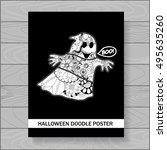 stock vector halloween... | Shutterstock .eps vector #495635260