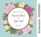 bouquet of flowers. wedding...   Shutterstock .eps vector #495639604