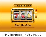 slot machine | Shutterstock .eps vector #495644770