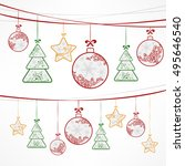 christmas ornament decoration.... | Shutterstock . vector #495646540