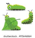 Insect Caterpillar Cartoon...