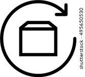 purchases return icon | Shutterstock .eps vector #495650530