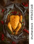 christmas traditional dish ... | Shutterstock . vector #495652168