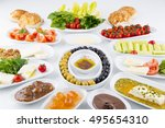 traditional turkish breakfast | Shutterstock . vector #495654310