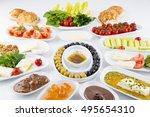 traditional turkish breakfast | Shutterstock . vector #495654310