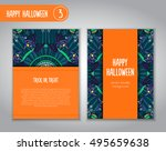 hand drawn tribal bat in the... | Shutterstock .eps vector #495659638