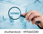 customers oriented marketing... | Shutterstock . vector #495660280