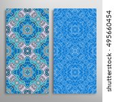 vertical seamless patterns set  ... | Shutterstock .eps vector #495660454