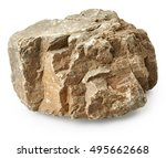 rock isolated on white... | Shutterstock . vector #495662668
