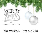 vector illustration christmas... | Shutterstock .eps vector #495664240