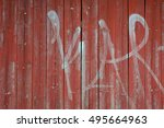 Red Wooden Background With...