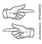 hand gesture. pointing left and ... | Shutterstock .eps vector #495668458
