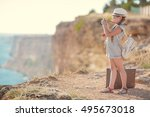 Small Child Girl Holding Camer...