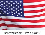 flag of the usa   Shutterstock . vector #495675040