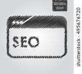 vector icon of seo concept in...
