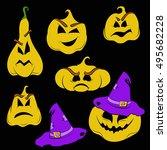 pumpkins | Shutterstock . vector #495682228