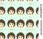 set of character lip sync... | Shutterstock .eps vector #495688570