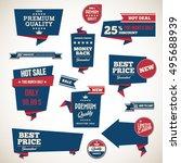 set of retro product... | Shutterstock .eps vector #495688939