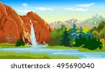 waterfall | Shutterstock .eps vector #495690040
