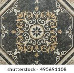 Small photo of tile, abstract geometry