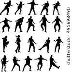beautiful dancing woman  | Shutterstock .eps vector #495693490