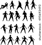beautiful dancing woman  | Shutterstock .eps vector #495693493