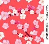 seamless pattern of japanese...   Shutterstock .eps vector #495694993